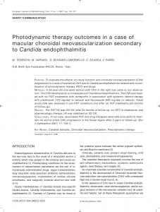 Photodynamic therapy outcomes in a case of macular ...