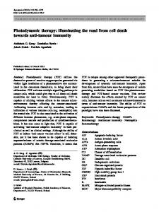Photodynamic therapy - Springer Link