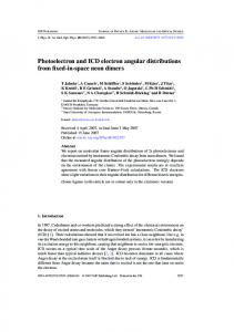 Photoelectron and ICD electron angular distributions from fixed-in ...
