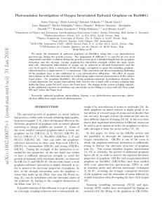 Photoemission Investigation of Oxygen Intercalated Epitaxial ...