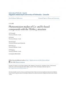 Photoemission studies of Co- and Fe-based compounds with the ...