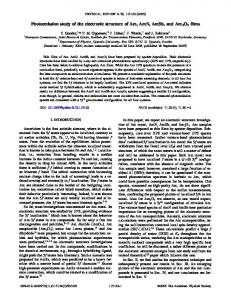 Photoemission study of the electronic structure of Am, AmN, AmSb ...