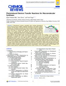 Photoinduced Electron Transfer Reactions for ... - ACS Publications