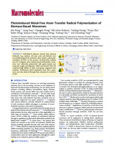 Photoinduced Metal-Free Atom Transfer Radical Polymerization of ...