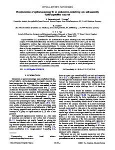 Photoinduction of optical anisotropy in an ... - APS link manager