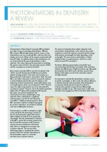 photoinitiators in dentistry: a review