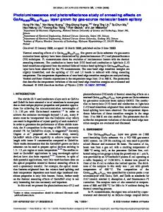 Photoluminescence and photoreflectance study of annealing effects ...