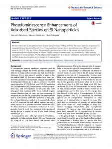 Photoluminescence Enhancement of Adsorbed