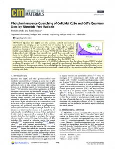 Photoluminescence Quenching of Colloidal CdSe ... - ACS Publications