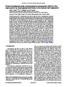 Photoluminescence study of polycrystalline photovoltaic CdS thin film ...