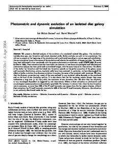 Photometric and dynamic evolution of an isolated disc galaxy simulation