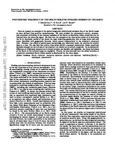 Photometric Variability of the Disk Integrated Infrared Emission of the ...
