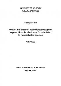 Photon and electron action spectroscopy of trapped biomolecular ions