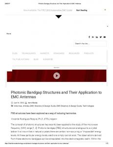 Photonic Bandgap Structures and Their Application to EMC Antennas