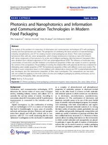 Photonics and Nanophotonics and Information and ... - SpringerOpen