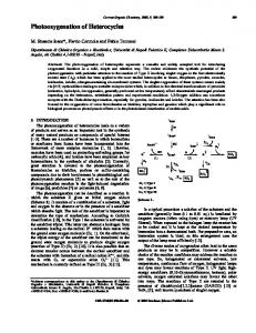 Photooxygenation of Heterocycles - IngentaConnect