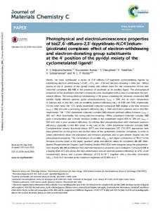 Photophysical and electroluminescence properties of
