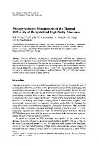 Photopyroelectric measurement of the thermal diffusivity of ... - CADIPT