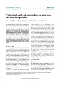 Photoreduction of carbon dioxide using strontium
