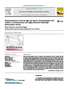 Photosensitization of ZnO by AgBr and Ag2CO3