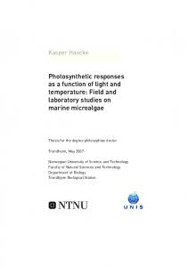 Photosynthetic responses as a function of light and ... - bibsys brage