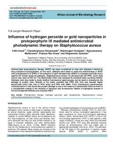 Photothermal effect of Gold nanoparticles combined ...