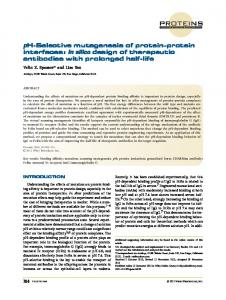 pHselective mutagenesis of proteinprotein ... - Wiley Online Library