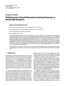 Phthalocyanine-Based Molecularly Imprinted Polymers as ... - Hindawi