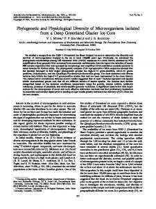 Phylogenetic and Physiological Diversity of Microorganisms Isolated ...