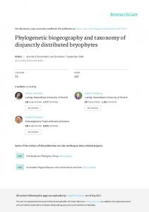Phylogenetic biogeography and taxonomy of