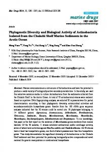 Phylogenetic Diversity and Biological Activity of ... - BioMedSearch