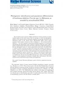 Phylogenetic identification and population