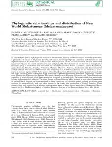 Phylogenetic relationships and distribution of New ... - Oxford Academic