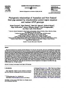 Phylogenetic relationships of Australian and New Zealand feral pigs ...