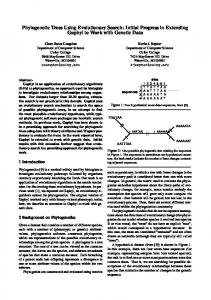 Phylogenetic Trees Using Evolutionary Search: Initial ... - CiteSeerX