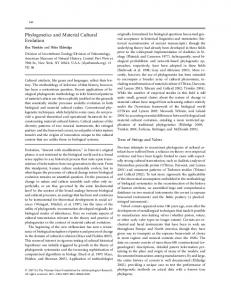 Phylogenetics and Material Cultural Evolution