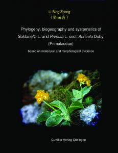 Phylogeny, biogeography and systematics of