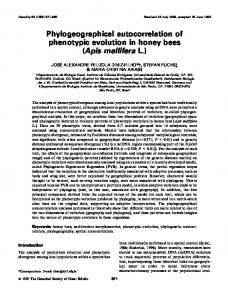 Phylogeographical autocorrelation of phenotypic evolution in ... - Nature