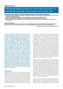 Phylogeographical pattern of Francisella tularensis ... - Semantic Scholar