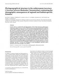 Phylogeographical structure in the subterranean ... - Wiley Online Library
