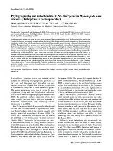 Phylogeography and mitochondrial DNA ... - Wiley Online Library