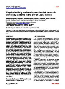Physical activity and cardiovascular risk factors in university students ...