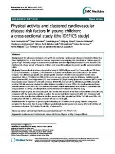 Physical activity and clustered cardiovascular disease risk factors in ...