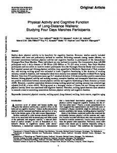 Physical Activity and Cognitive Function of Long