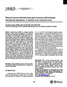 Physical activity and lower-back pain in persons with traumatic ...