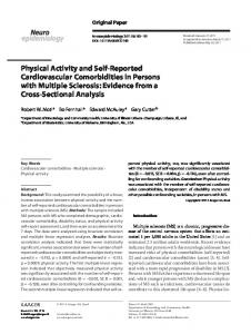 Physical Activity and Self-Reported Cardiovascular