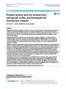 Physical activity and the environment - Semantic Scholar