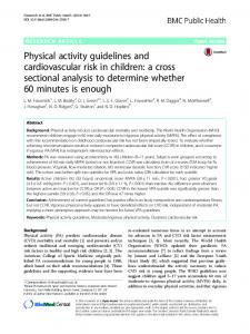Physical activity guidelines and cardiovascular risk in children - CORE