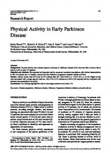 Physical Activity in Early Parkinson Disease - IOS Press