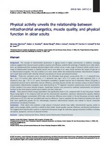 Physical activity unveils the relationship between mitochondrial ...